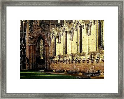 Framed Print featuring the photograph Abbey Ruins by Ranjini Kandasamy
