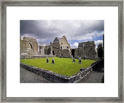Abbeyknockmoy, Cistercian Abbey Of Framed Print by The Irish Image Collection