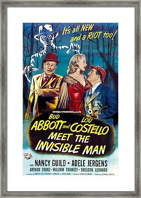 Abbott And Costello Meet The Invisible Framed Print by Everett