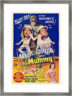 Abbott And Costello Meet The Mummy Framed Print by Everett