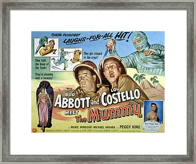 Abbott And Costello Meet The Mummy, Lou Framed Print by Everett