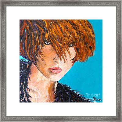 Abby Framed Print by Richard T Pranke