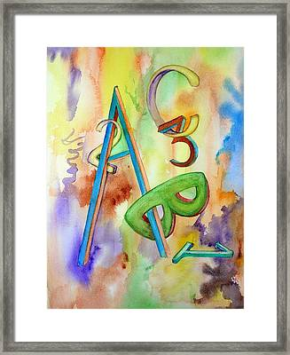 Abc And 123 Framed Print