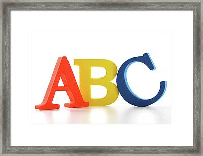 Abc Letters On White  Framed Print by Sandra Cunningham