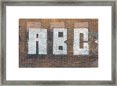 Abc On Wall Framed Print by Hans Engbers