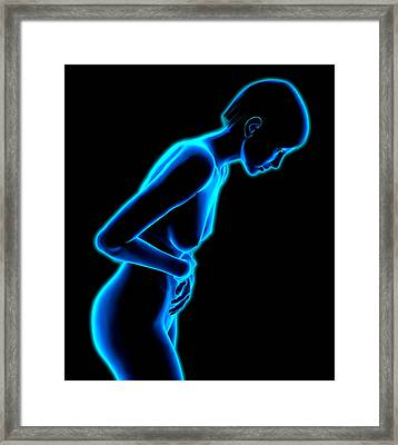 Abdominal Pain Framed Print by Roger Harris