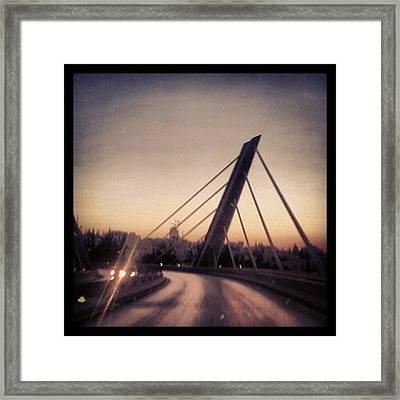 Abdoun Bridge, Jordan - Amman Framed Print by Abdelrahman Alawwad