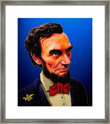 Abe Lincoln Blue Framed Print by Che Rellom