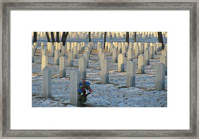Abe Lincoln National Cemetary Framed Print by Todd Sherlock