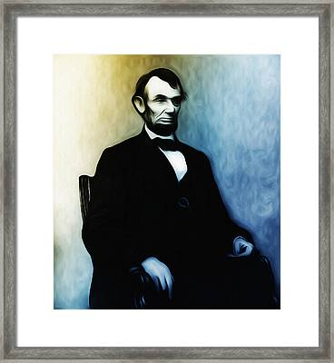 Abe Lincoln Seated Framed Print by Bill Cannon
