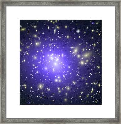 Abell 1689 Galaxy Cluster, X-ray Image Framed Print