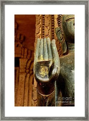 Abhaya Mudra II In Colour Framed Print by Dean Harte