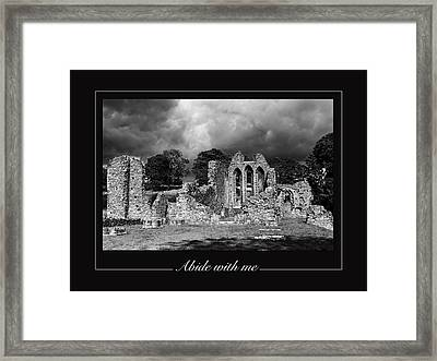 Abide With Me Framed Print by David McFarland