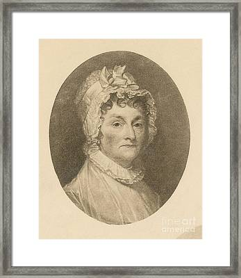 Abigail Adams Framed Print by Photo Researchers