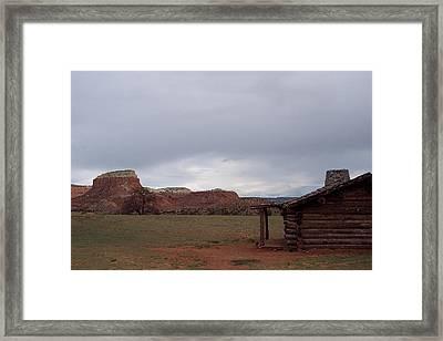 Abiquiu Cabin Framed Print by Susan Alvaro