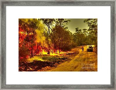 Ablaze Framed Print by Joanne Kocwin