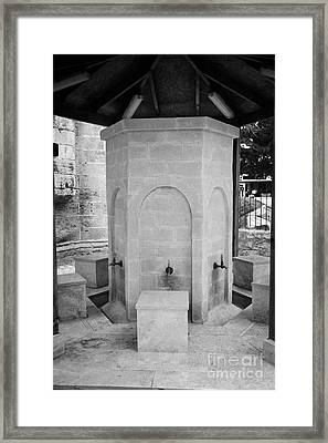 Ablution Fountains Outside The Lala Mustafa Pasha Mosque In Famagust Framed Print by Joe Fox