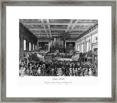 Abolition Convention, 1840 Framed Print