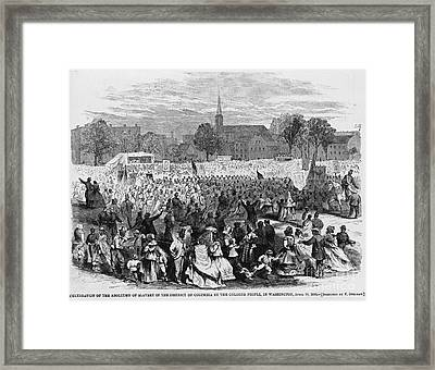 Abolition Of Slavery Framed Print by Photo Researchers