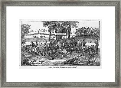 Abolitionist Cartoon Entitled, Our Framed Print by Everett
