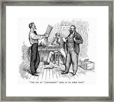 Abolitionist Newspaper Framed Print