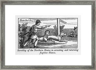 Abolitionist Political Cartoon Framed Print