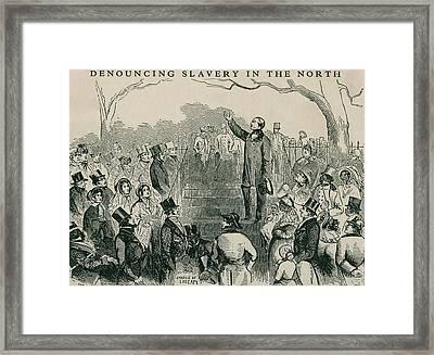 Abolitionist Wendell Phillips Speaking Framed Print by Everett