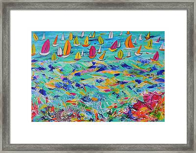 Framed Print featuring the painting Above And  Below by Lyn Olsen