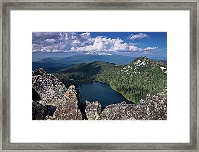 Above Castle Lake Framed Print