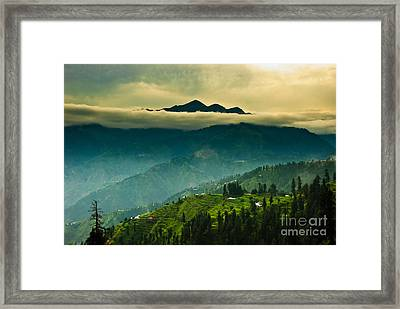 Above Clouds Framed Print by Syed Aqueel