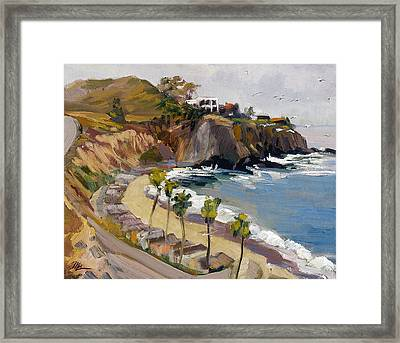 Above El Moro Framed Print