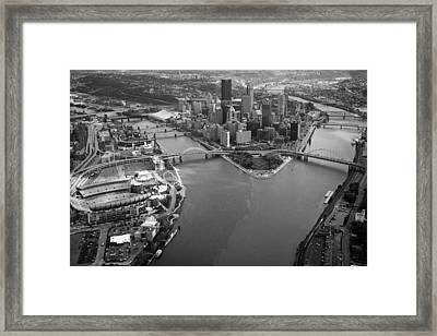 Above Pittsburgh  Framed Print by Emmanuel Panagiotakis