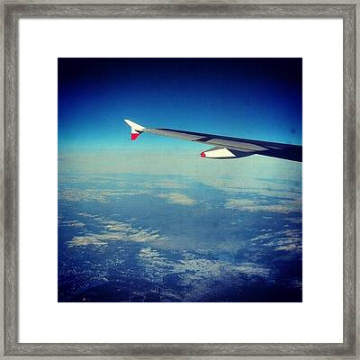 Above The #clouds #london #snow Framed Print