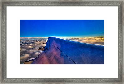 Above The Clouds On A 757 Framed Print by David Patterson