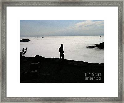 Above The Clouds Framed Print by Silvie Kendall
