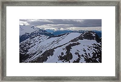 Above The Ridge Framed Print by Mike Reid