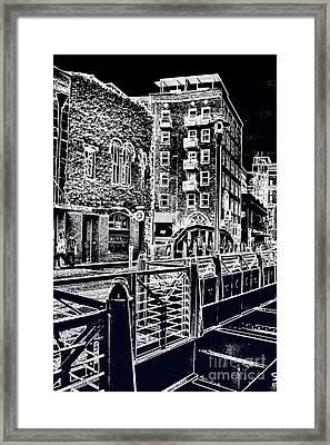 Above The River-walk Framed Print by Joe Finney