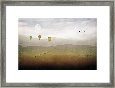 Above The Rolling Hills Framed Print