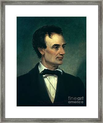 Abraham Lincoln, 16th American President Framed Print by Photo Researchers, Inc.