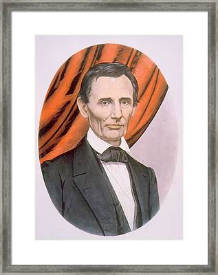 Abraham Lincoln 1809-1865, Lithograph Framed Print by Everett