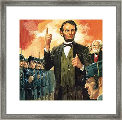 Abraham Lincoln Framed Print by English School