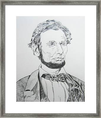 Abraham Lincoln Framed Print by John Keaton