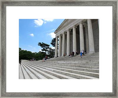 Abraham Lincoln Memorial Framed Print by Valia Bradshaw