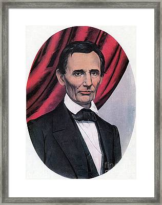 Abraham Lincoln, Republican Candidate Framed Print by Photo Researchers