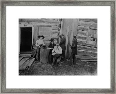Abraham Lincolns Log Cabin. The Lincoln Framed Print by Everett