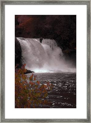 Abrams Falls In Autumn Framed Print by DigiArt Diaries by Vicky B Fuller