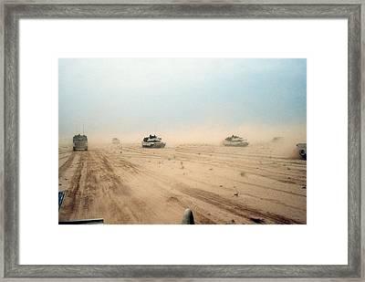 Abrams Tanks Of The 1st Armored Framed Print