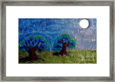Framed Print featuring the painting Abres De La Lune by Ayasha Loya