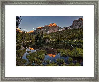 Absaroka Range Reflection Framed Print