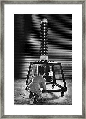 Absolute Voltmeter, 1951 Framed Print by National Physical Laboratory (c) Crown Copyright